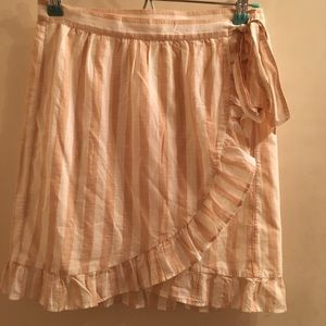 JCrew Striped Apron Skirt Size XXS